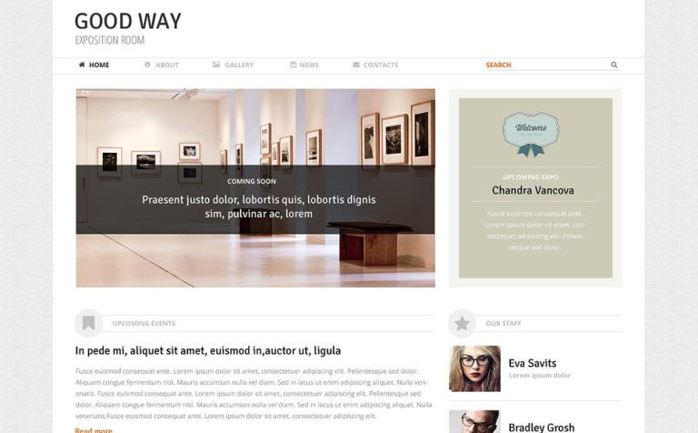 Tema de WordPress #51394 para Sitio de Galerías de arte