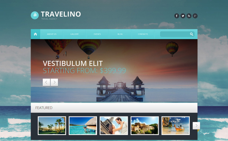Travel Agency Responsive WordPress Theme #51349