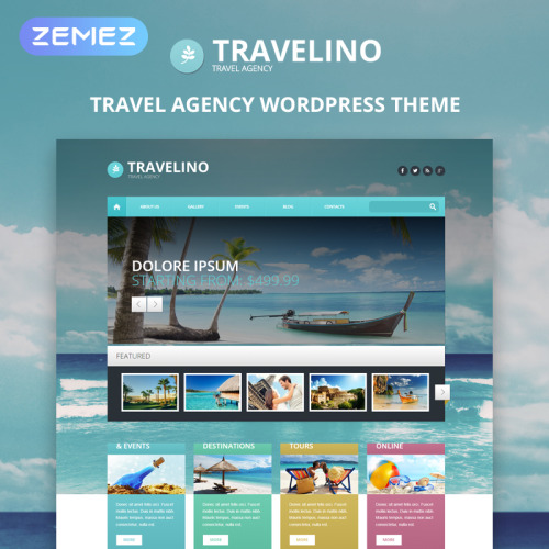 Travelino - WordPress Template based on Bootstrap