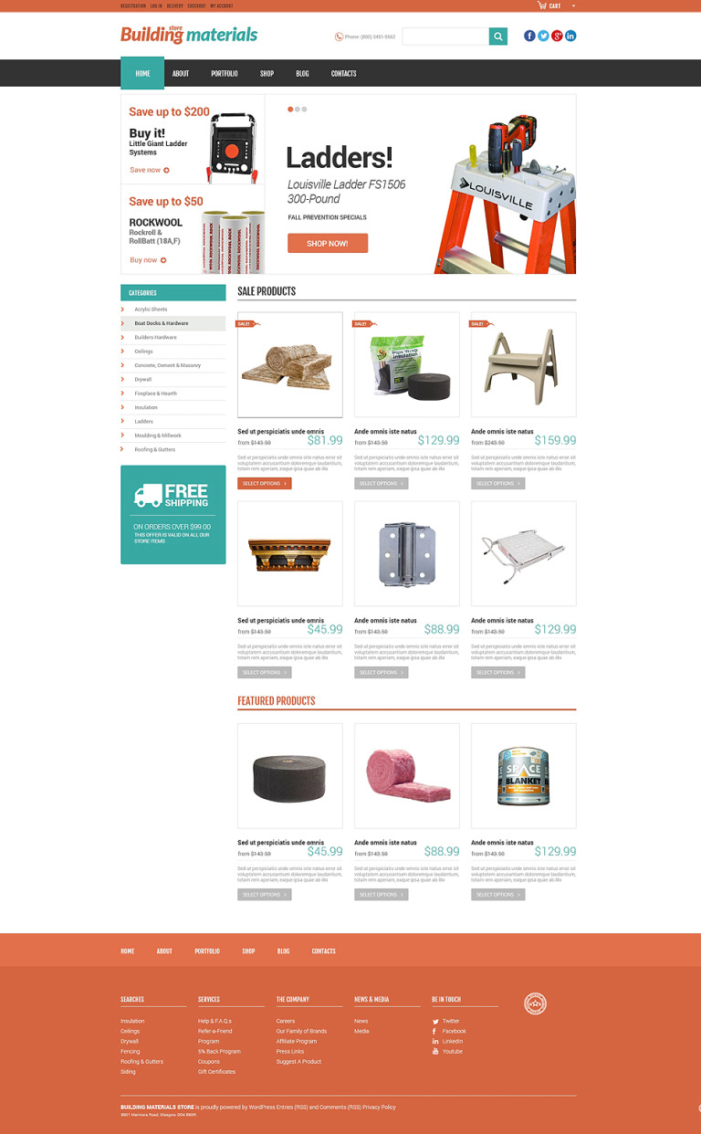 Universal Building Supplies WooCommerce Theme New Screenshots BIG