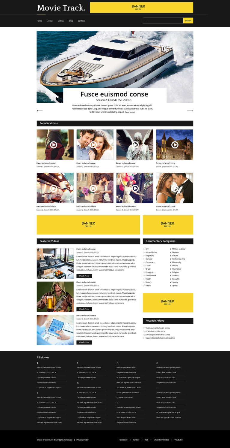 Video Lab Responsive Website Template New Screenshots BIG