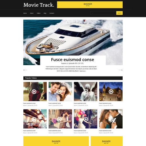 Movie Track - Responsive Website Template