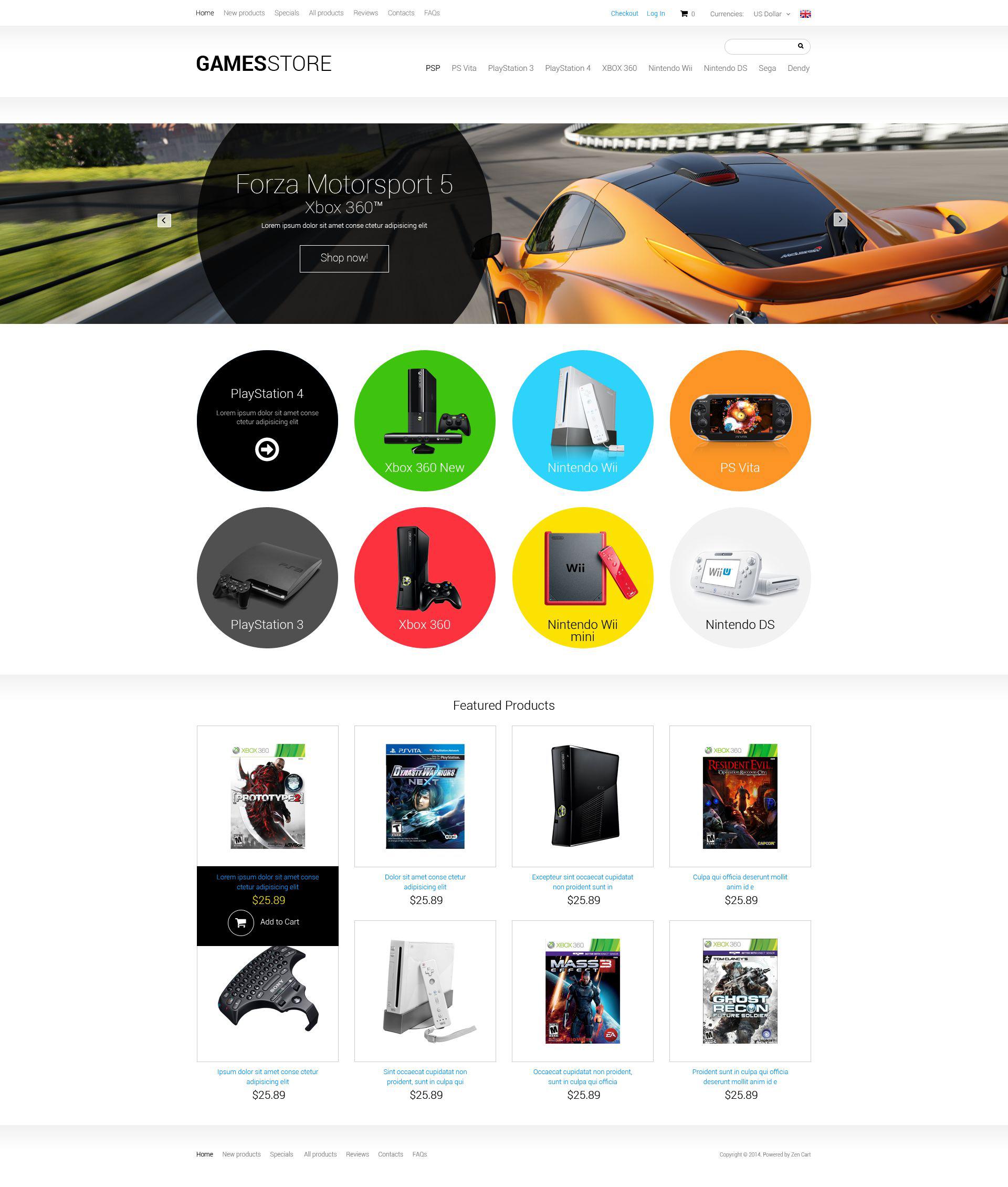 ZenCart Vorlage für Spiele #51374
