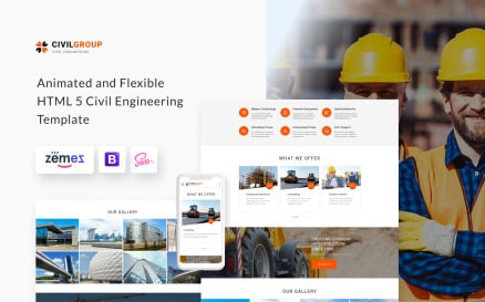 Civil Group - Construction Company Multipage Modern HTML Website Template