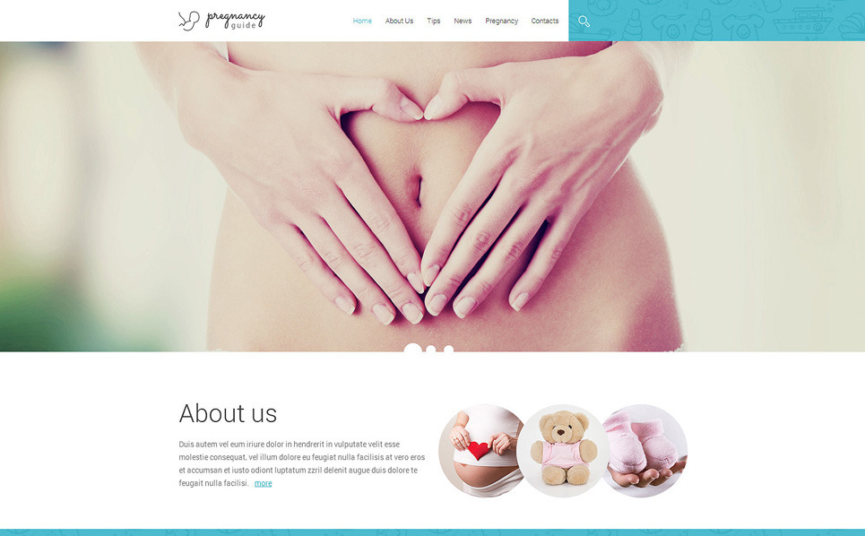 Адаптивний Шаблон сайту на тему вагітність New Screenshots BIG