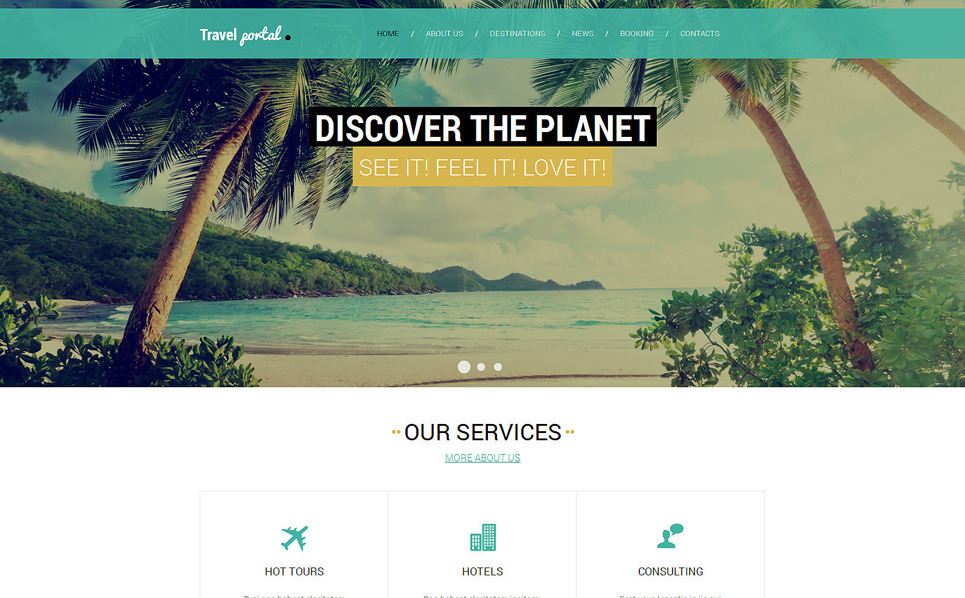 Responsive Website template over Reizen New Screenshots BIG