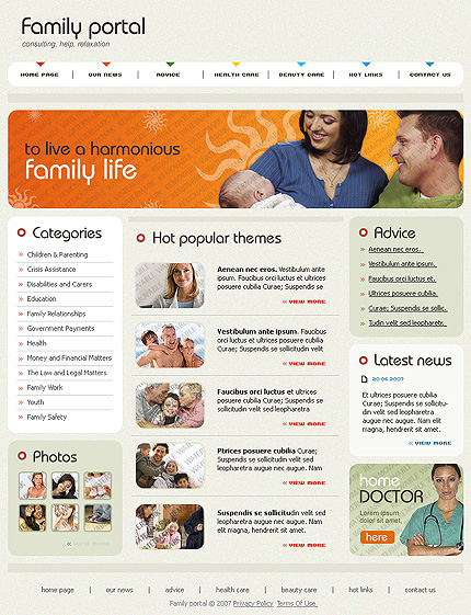 ADOBE Photoshop Template 51436 Home Page Screenshot