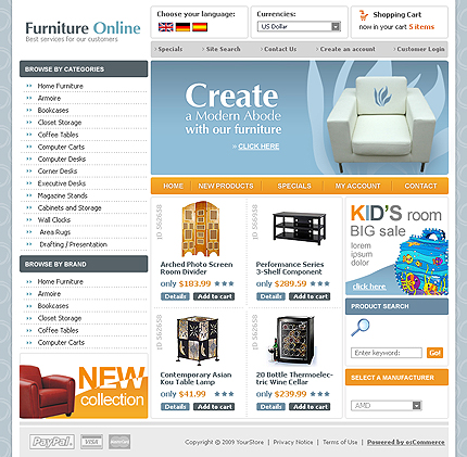 osCommerce Template 51443 Main Page Screenshot