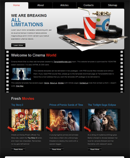 ADOBE Photoshop Template 51472 Home Page Screenshot