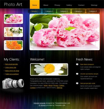 ADOBE Photoshop Template 51478 Home Page Screenshot
