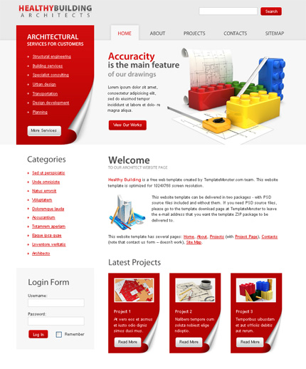 ADOBE Photoshop Template 51483 Home Page Screenshot