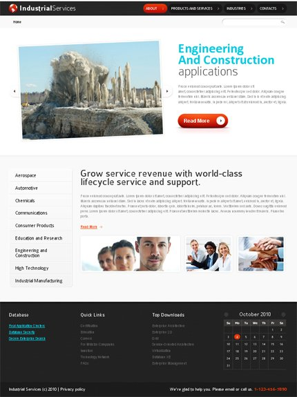 ADOBE Photoshop Template 51486 Home Page Screenshot