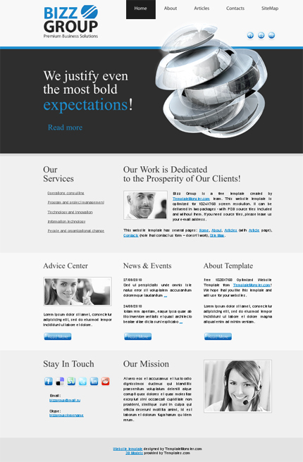 ADOBE Photoshop Template 51488 Home Page Screenshot