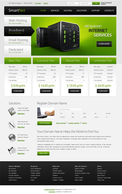ADOBE Photoshop Template 51489 Home Page Screenshot