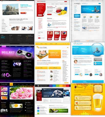 ADOBE Photoshop Template 51490 Home Page Screenshot