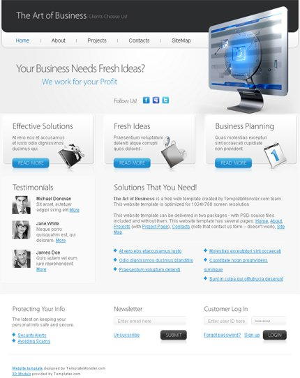 ADOBE Photoshop Template 51493 Home Page Screenshot