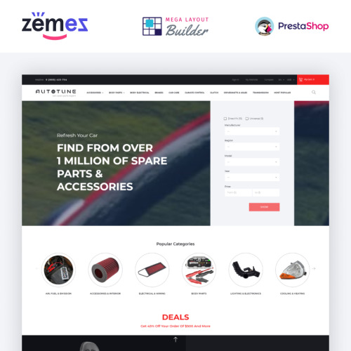 Spare Parts - PrestaShop Template based on Bootstrap