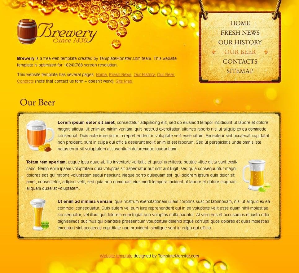 Free beer and brewery website template free beer and brewery website template website template new screenshots big toneelgroepblik Gallery