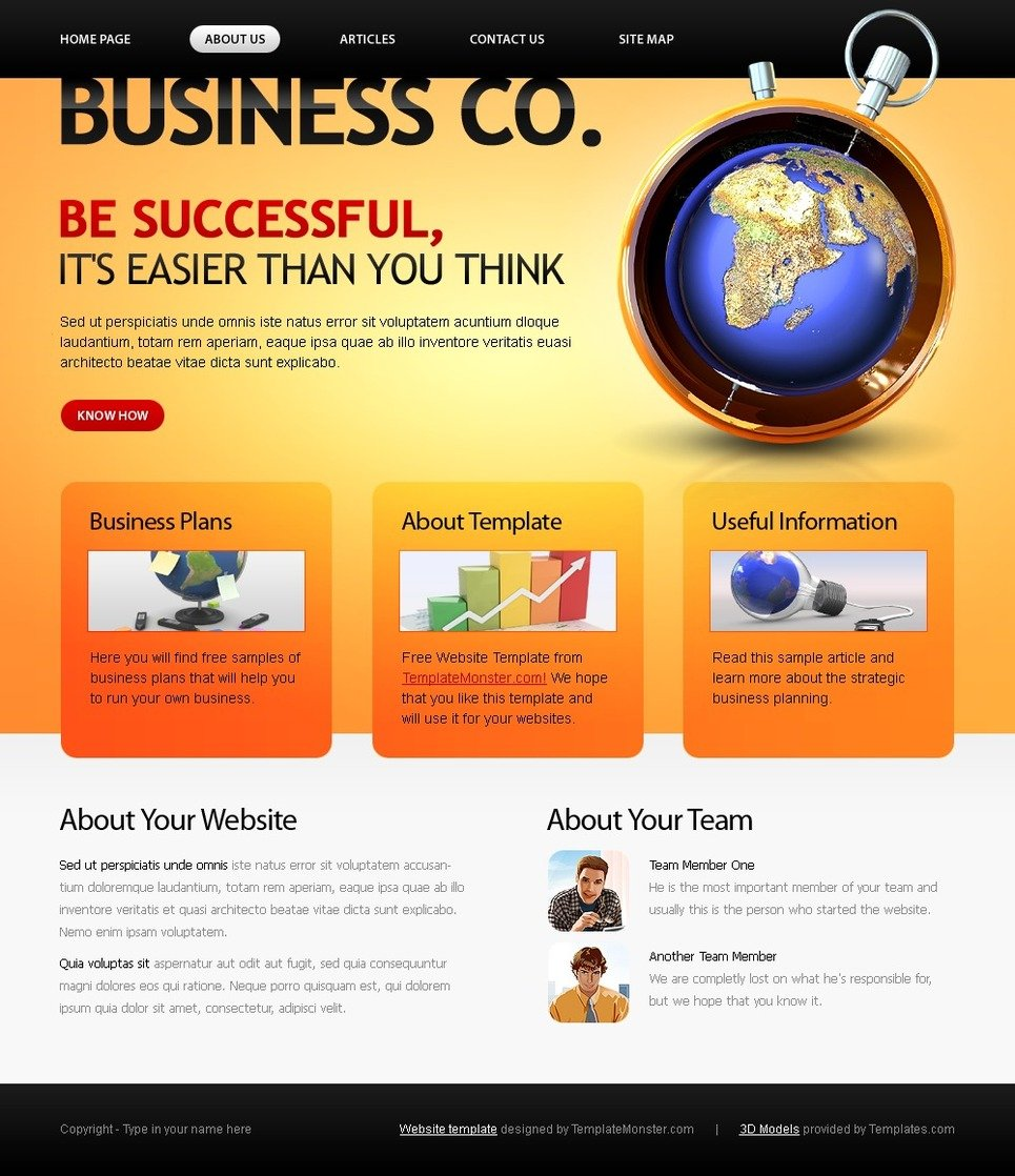 free business company template website template new screenshots big - Template