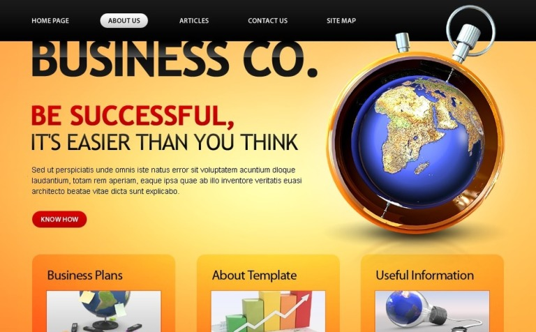 Free website template business company free business company template website template new screenshots big accmission Choice Image