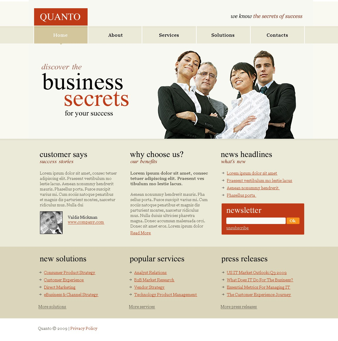 Free Business Services Website Template Website Template