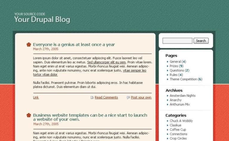 Free Drupal Themes Template New Screenshots