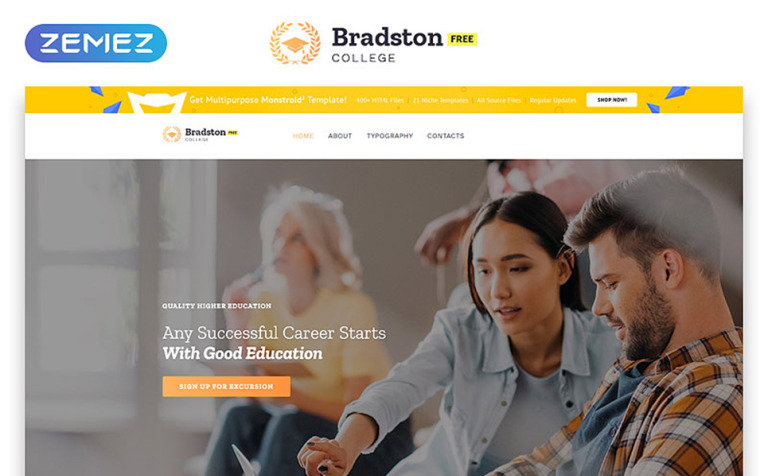 Free Education Website Template Screenshot