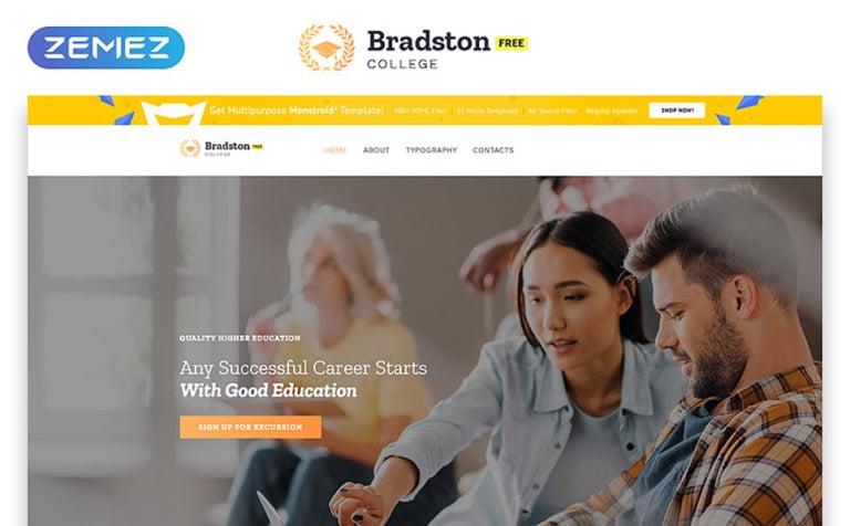 Free education website template maxwellsz