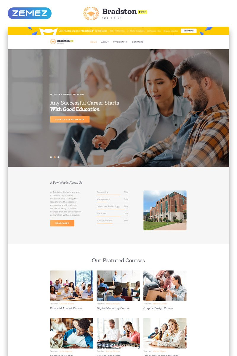 Free Education Website Template