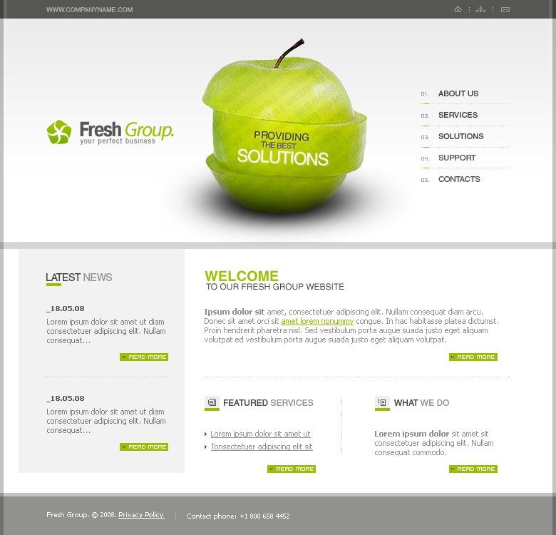 free flash web templete
