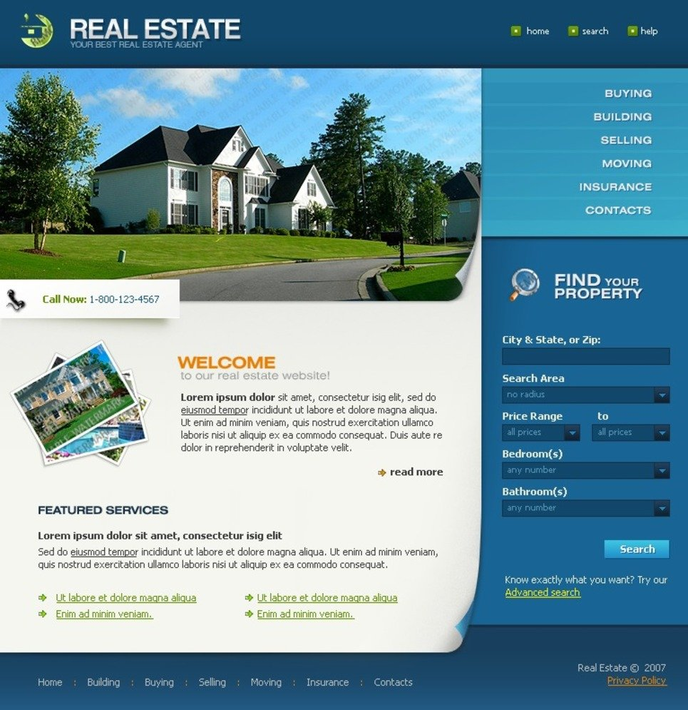 Free full package templates for Real estate craigslist template