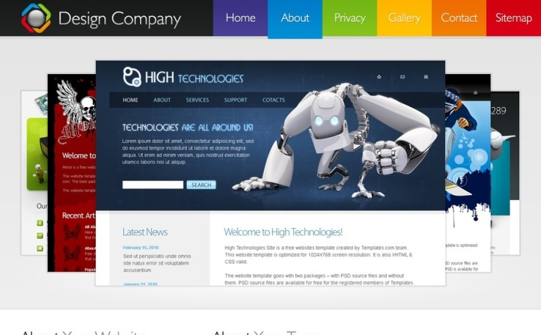 Free Hmtl5 Template Website New Screenshots