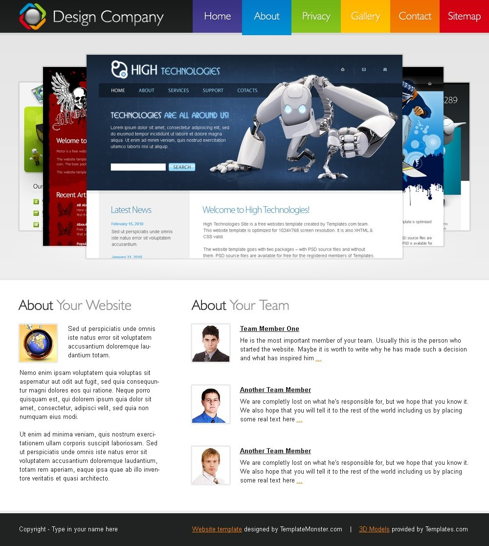 Free HMTLCSS Template Design Company - What website template is this