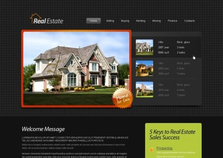 Free HTML5  - Real Estate