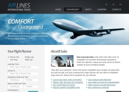 Free HTML5   - Airlines Company