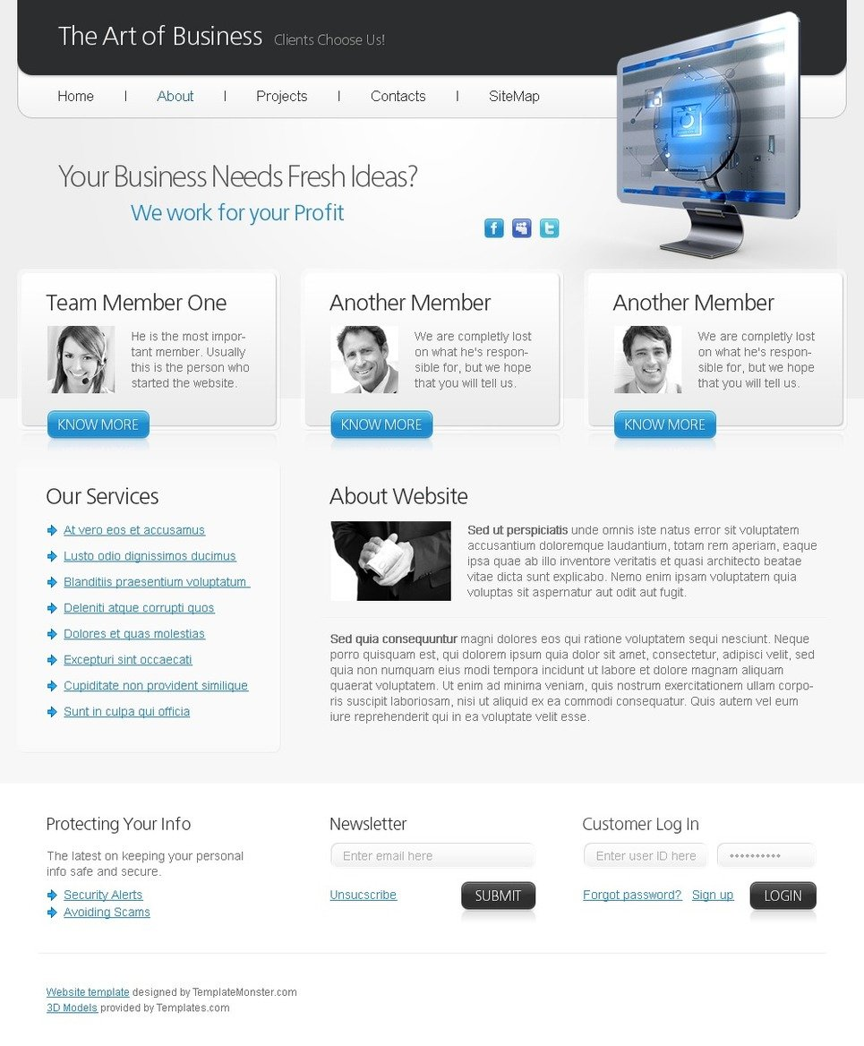 Free html5 website template art of business free html5 website template art of business website template new screenshots big flashek Image collections