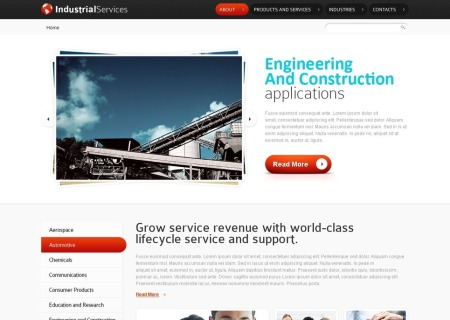 Free HTML5   - Industrial Services