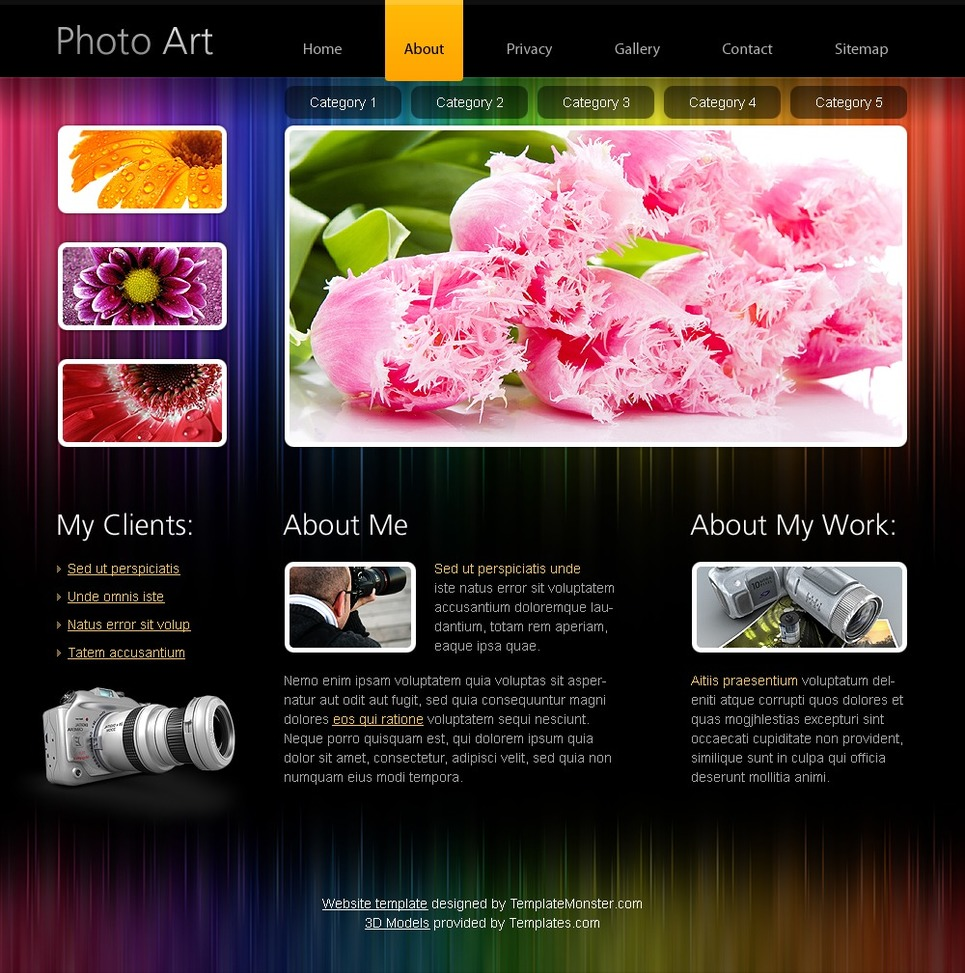 Free Html5 Website Template Photo Portfolio New Screenshots
