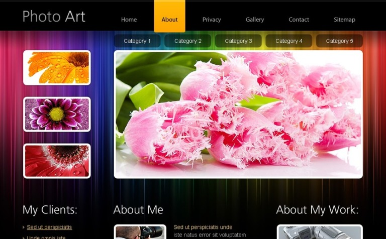 Free HTML5 Website Template - Photo Portfolio