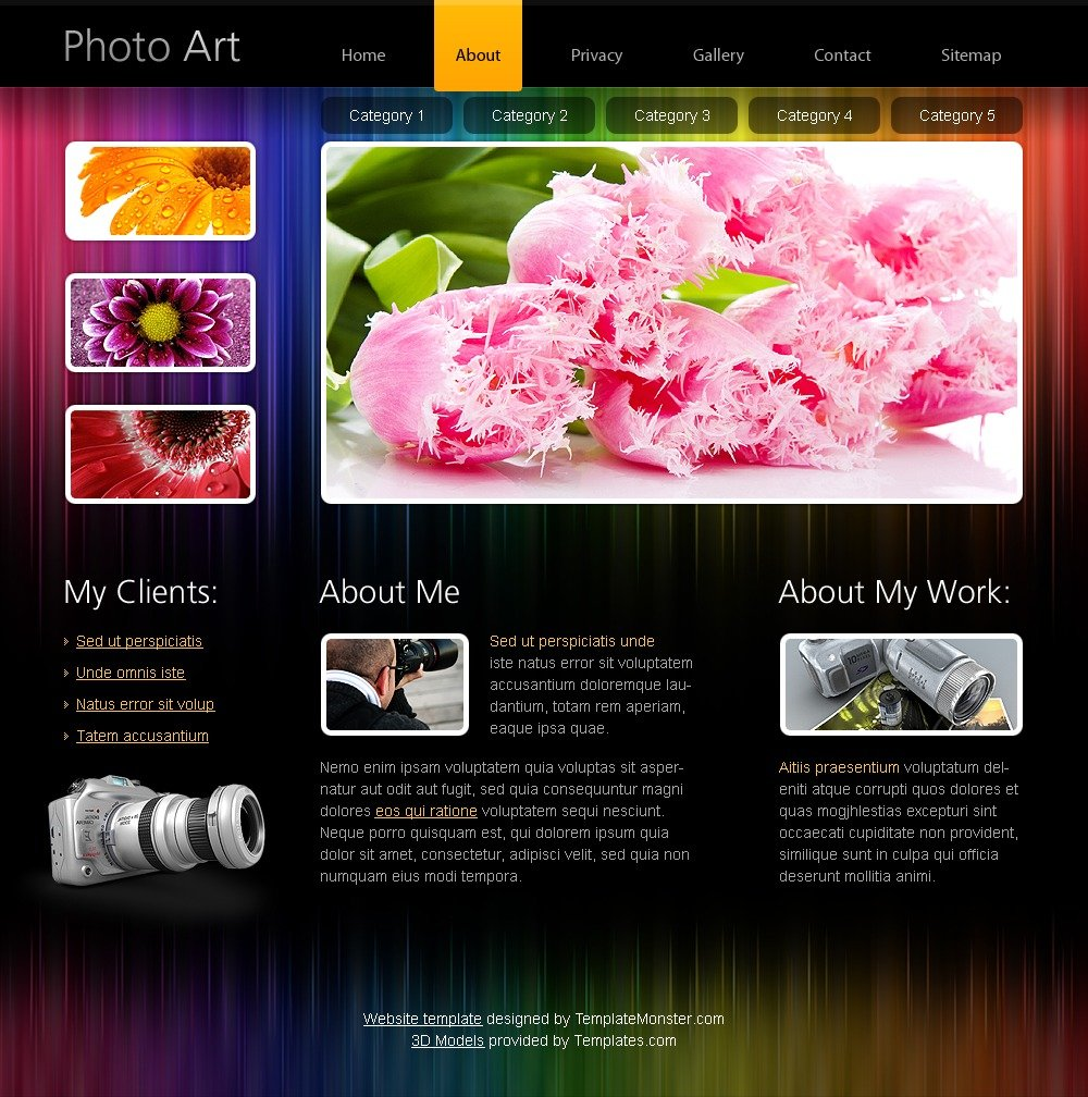 Free HTML5 Website Template - Photo Portfolio Website Template