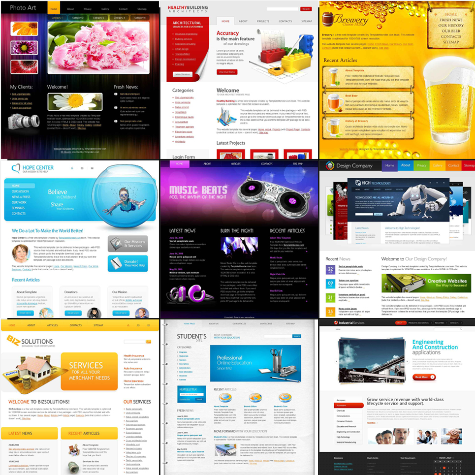 free html5 website templates bundle pack website template new screenshots big
