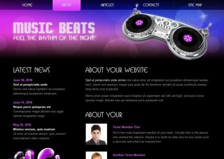 Free HTML5/CSS3  - Music