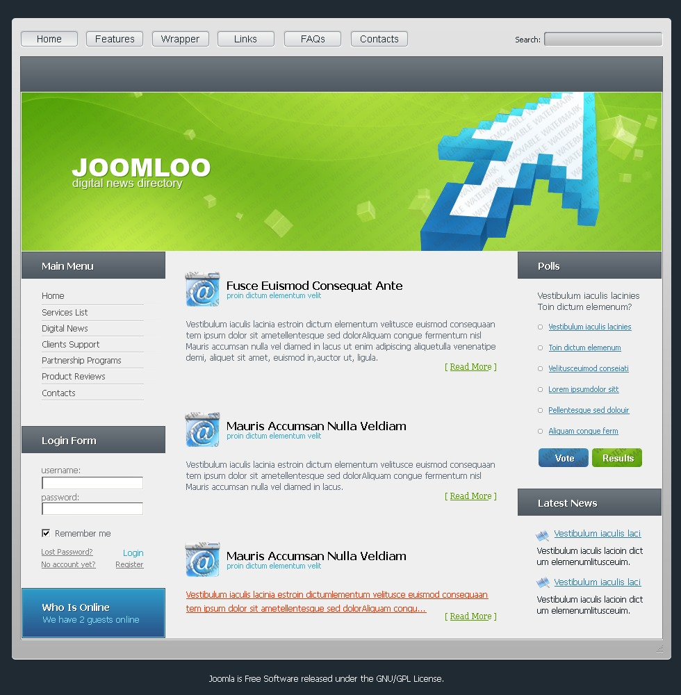 Free joomla templates free joomla themes for Jooma templates