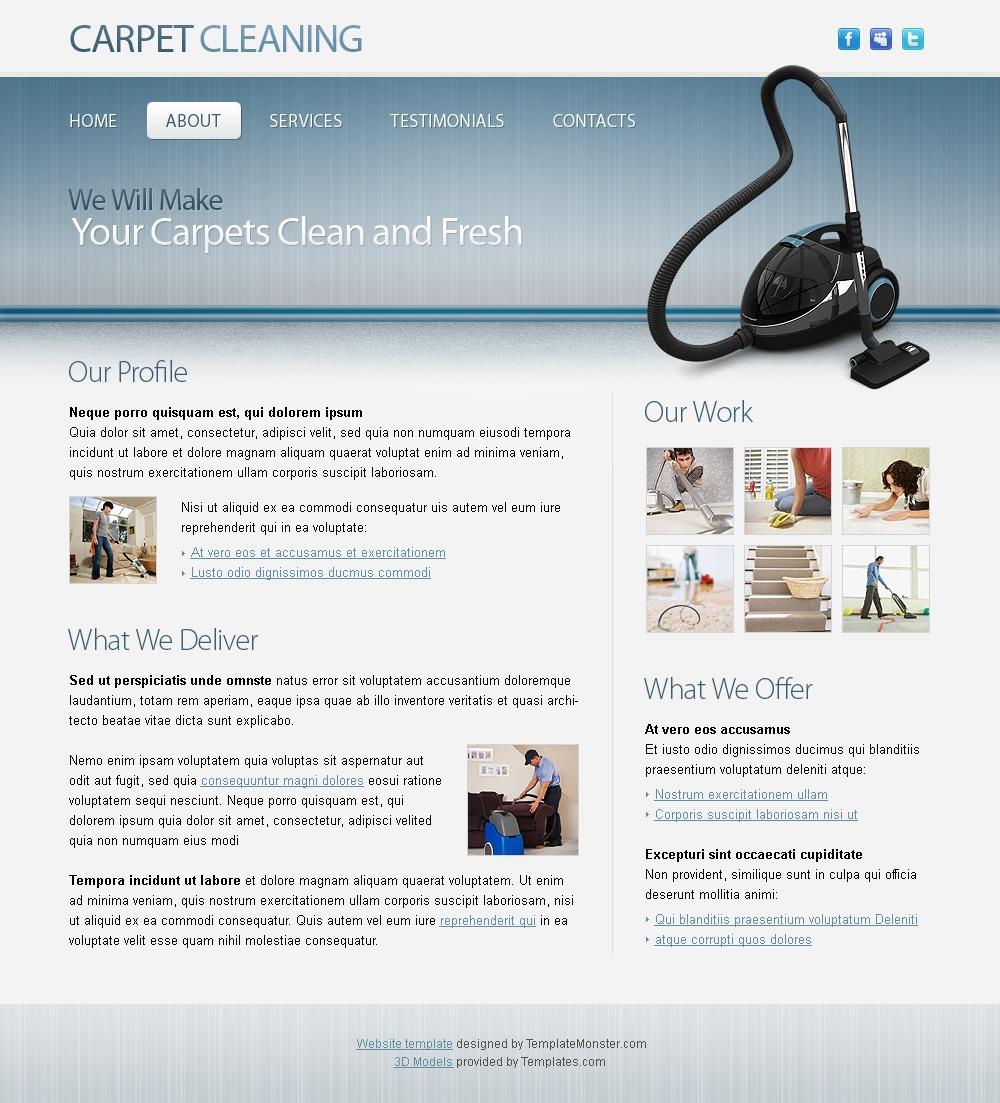 Free Maintenance and Cleaning Website Template Website Template - screenshot
