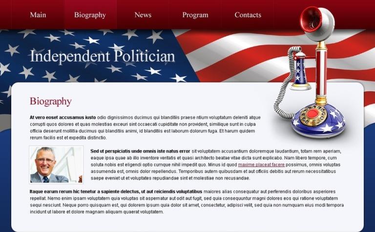 Free Politics Website Template