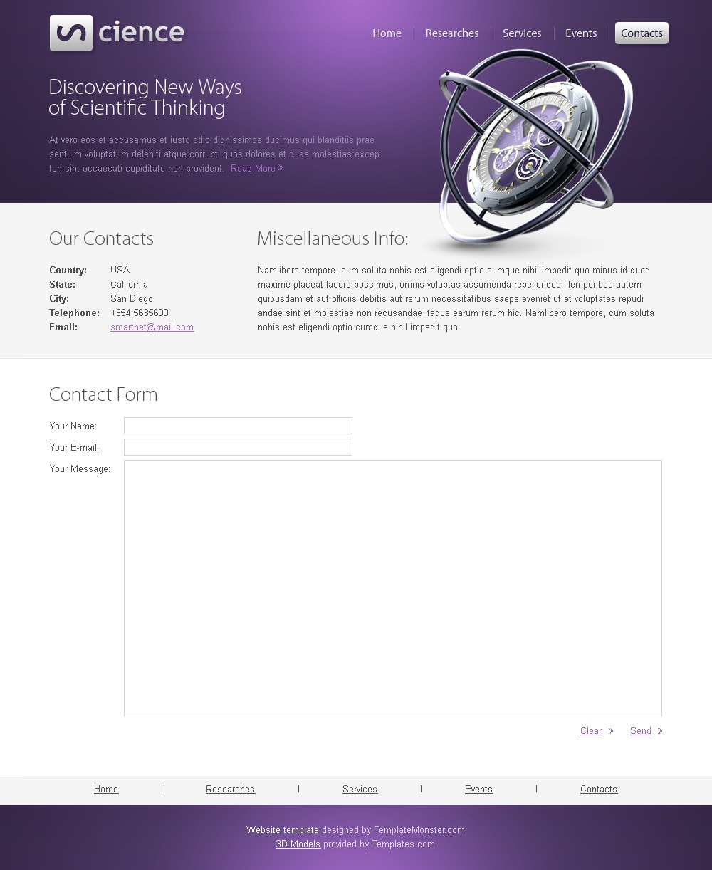 Free science html5 template maxwellsz