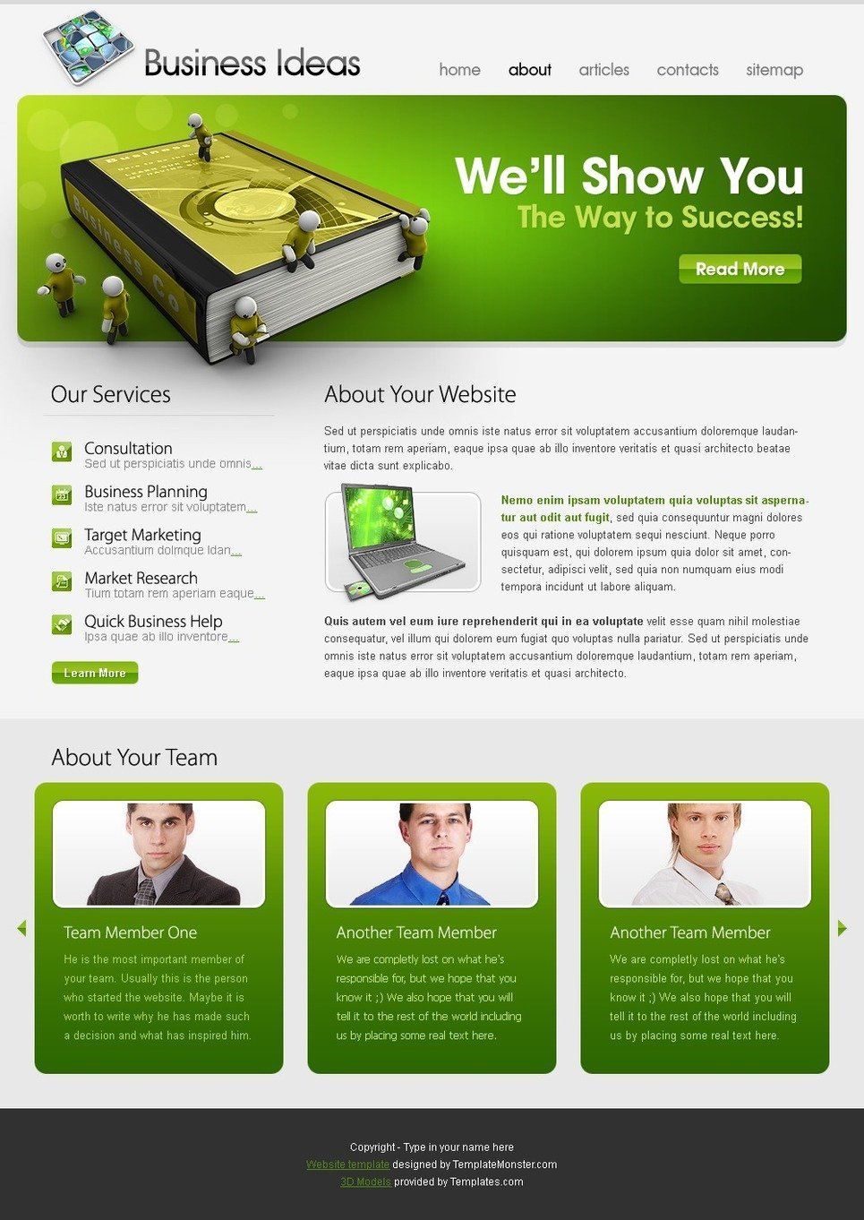 free template business ideas website template new screenshots big - Free Web Templates