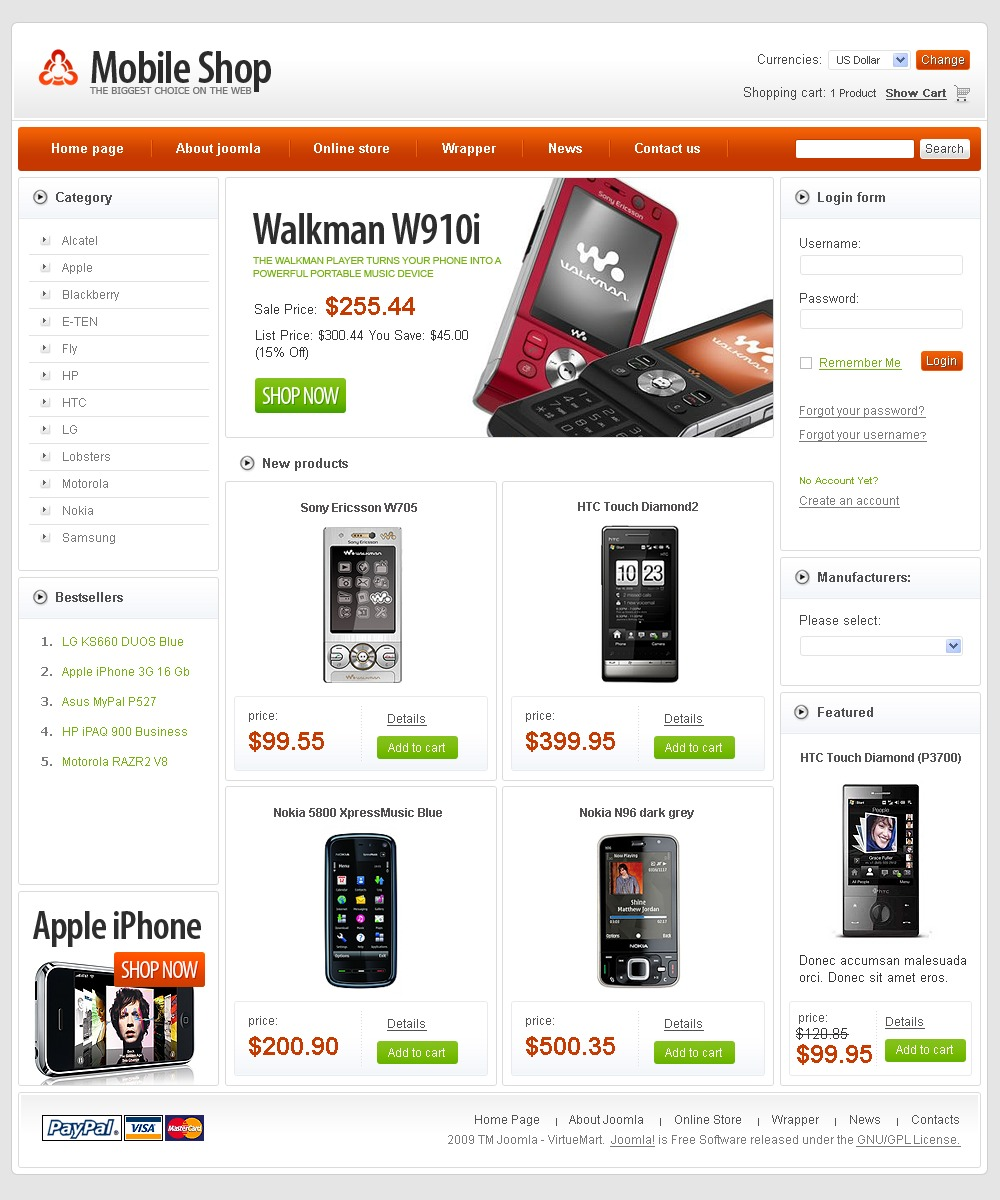 Free mobile store virtuemart template zoom in maxwellsz