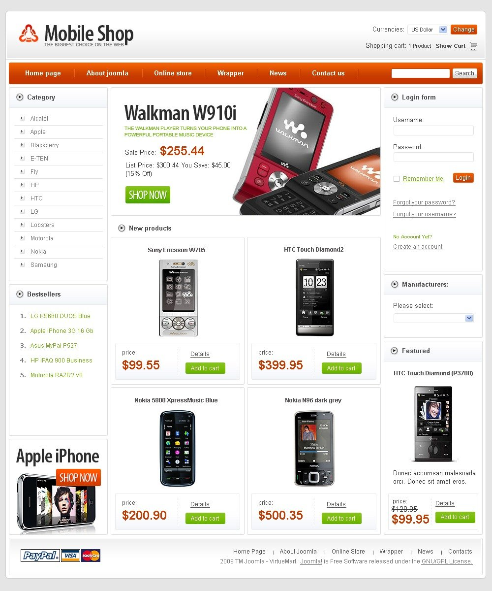 Free Virtuemart Themes | Free Virtuemart Templates
