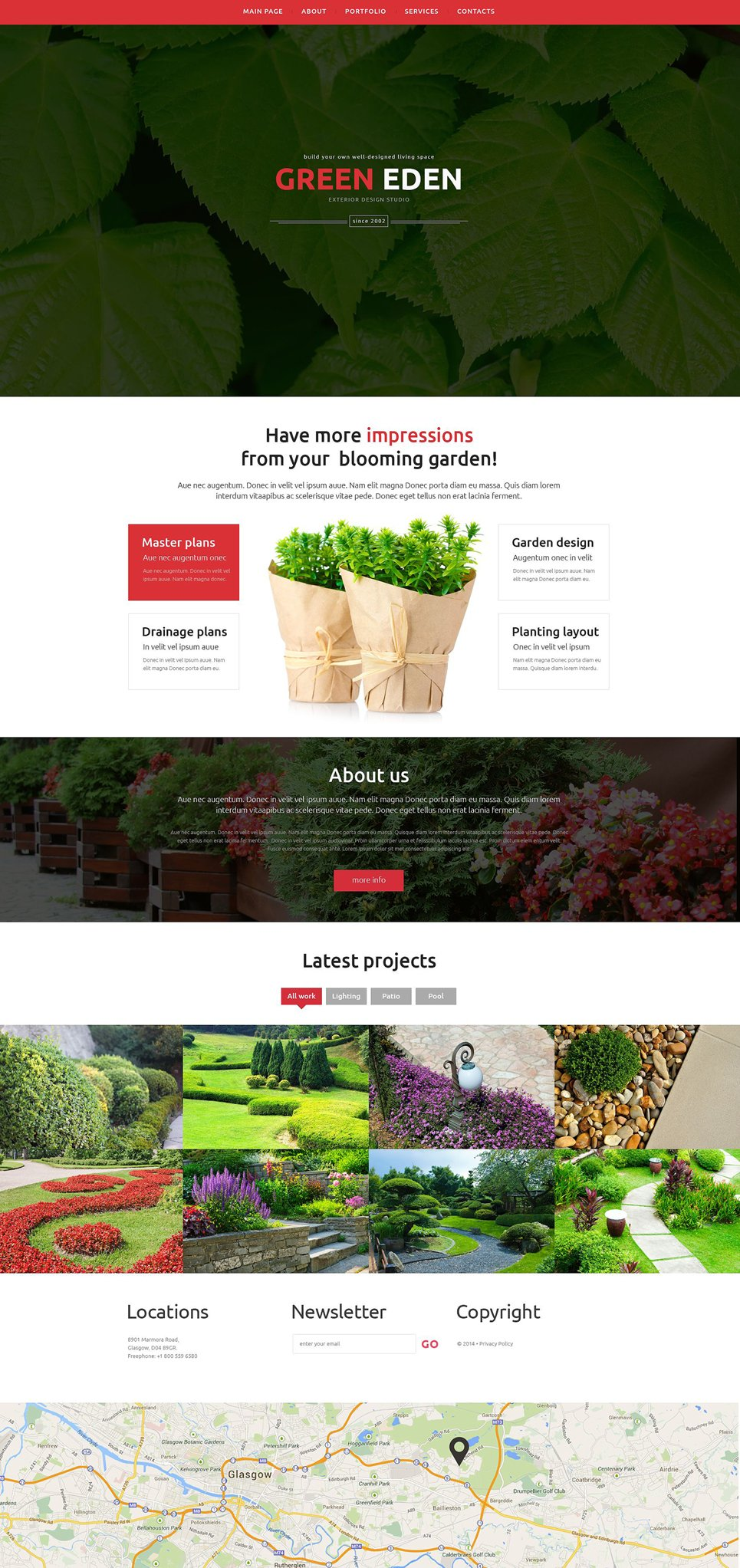 Garden Design Responsive Website Template #51402